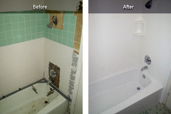Residential acrylic bathtub liners for Tub liner installation
